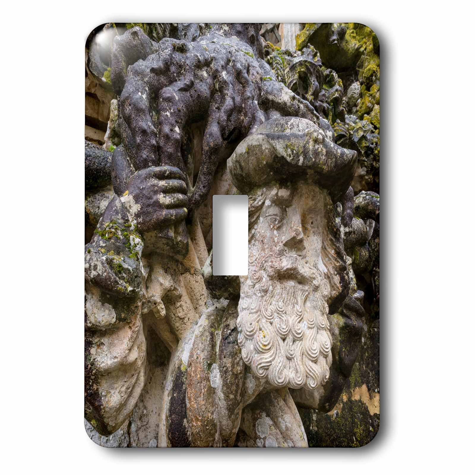 3dRose Danita Delimont - Religion - Face sculpture, Manueline Window, Convent of Christ, Tomar, Portugal - Light Switch Covers - single toggle switch (lsp_277808_1)