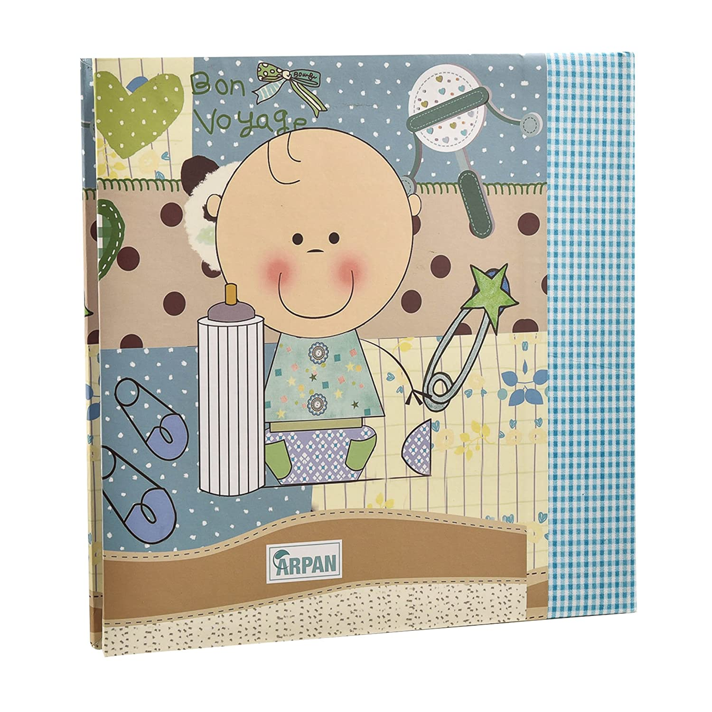 Arpan Baby Boy Blue Memo Slip in Photo Album 200 6x4 Photos Ideal Gift Blue