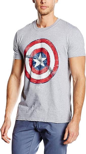 Marvel T-Shirt Captain America Avengers Shield per uomo