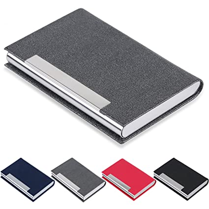 Amazon business card holder junelsy business card case luxury business card holder junelsy business card case luxury pu leather and stainless steel card holder colourmoves