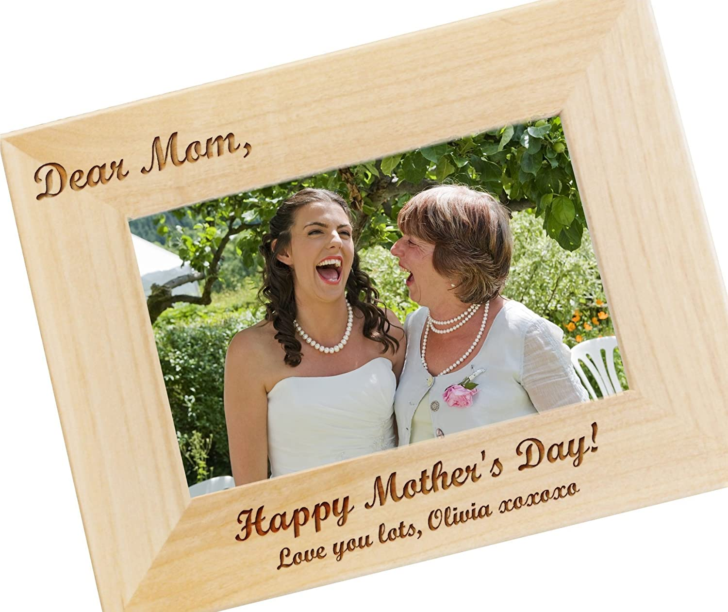 Amazon Com Dear Mom Custom Engraved Photo Frame For Moms Personalized Picture Frames Mother Of The Bride Gifts Wf15 Handmade