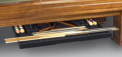 Amazoncom Legacy Billiards Perfect Drawer Cue Rack For And - Legacy billiards table