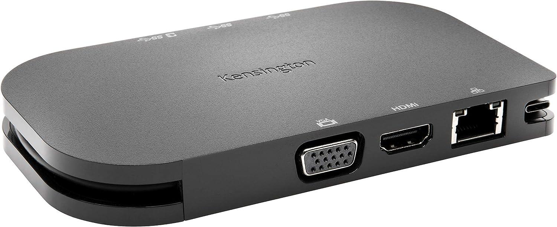 Kensington Replicador Móvil USB-C 5 Gb/s SD1600P con carga pass-through - 4K HDMI con puertos VGA y HDMI, 3 puertos USB