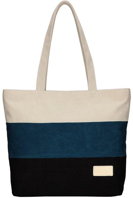 465b68615 Amazon.com: ArcEnCiel Women's Canvas Shoulder Hand Bag Tote Bag ...