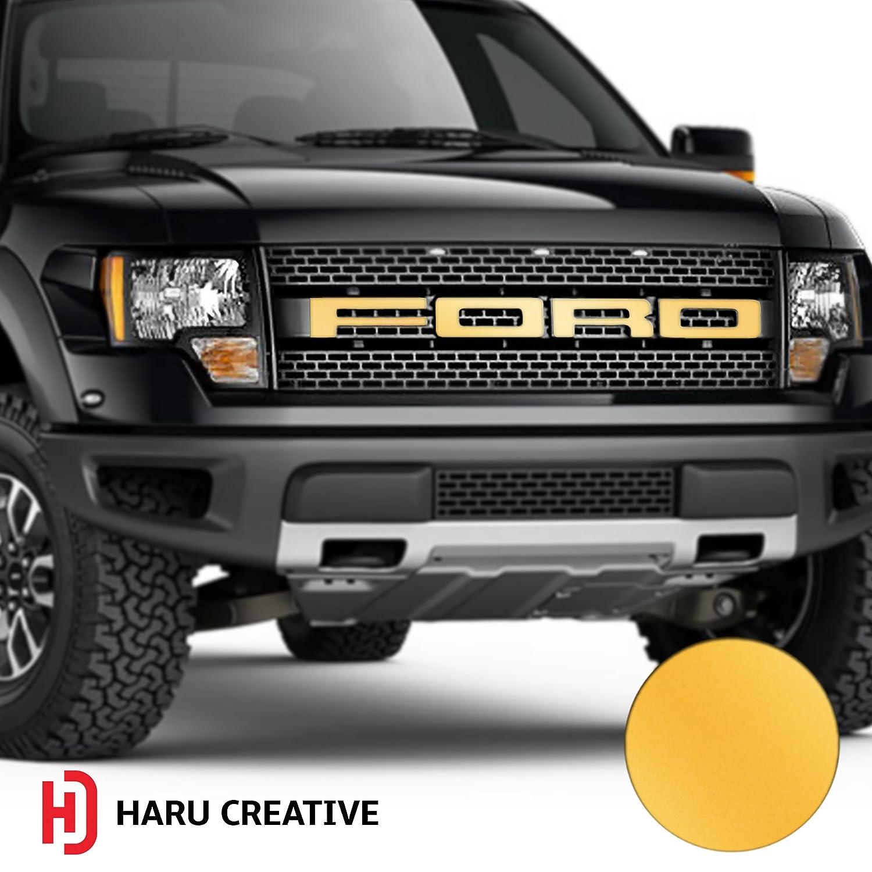 - Matte Blue 2010 2011 2012 2013 2014 Hood Grille Emblem Letter Overlay Vinyl Decal Sticker Compatible Fits Ford F150 F-150 Raptor Haru Creative
