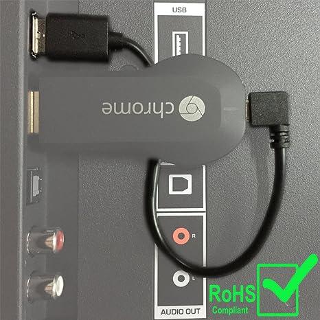 LILMACC Cable USB para reproductor multimedia de transmisión HDMI Google Chromecast (Desde el puerto USB de tu televisor): Amazon.es: Informática