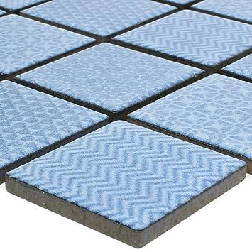 Mosaikfliesen Keramik Sapporo Blau | Wandfliesen | Mosaik Fliesen |  Boden Fleisen | Fliesen