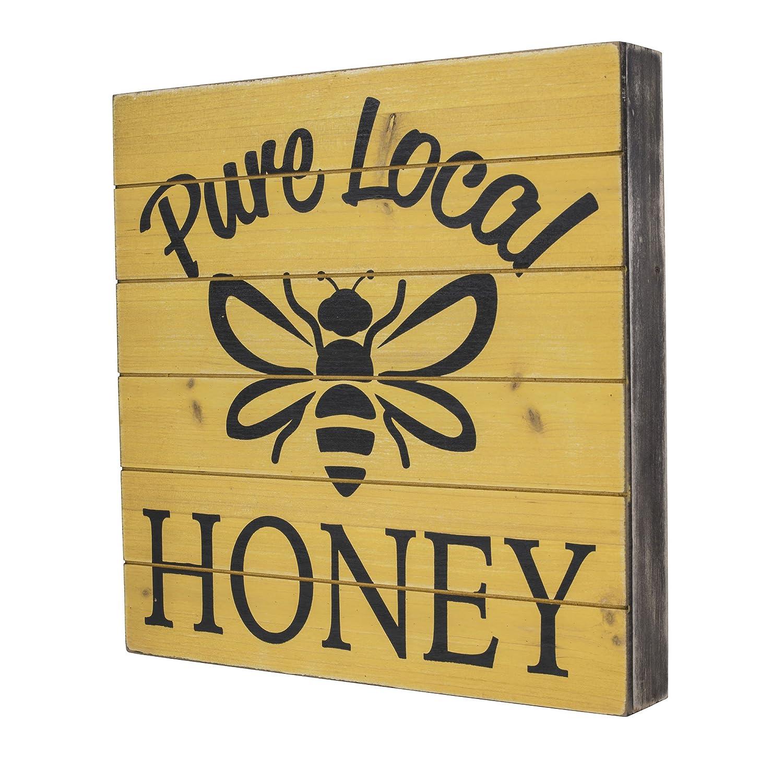 Amazon.com : SummerHawk Ranch Wood Sign - Pure Local Honey, Rustic ...