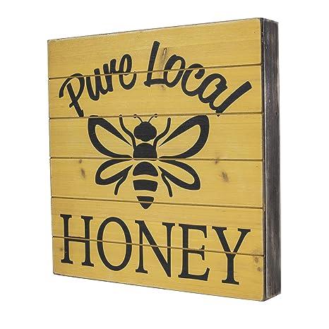 Amazon.com: SummerHawk Ranch Wood Sign - Pure Local Honey, Rustic ...