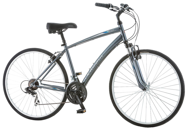 Schwinn Network 1 0 700c Men's 18 Hybrid Bike, 18-Inch/Medium, Grey