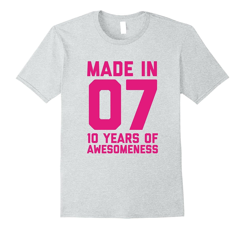 10th Birthday Shirt Gift Age 10 Year Old Girls Tshirt Tee-FL