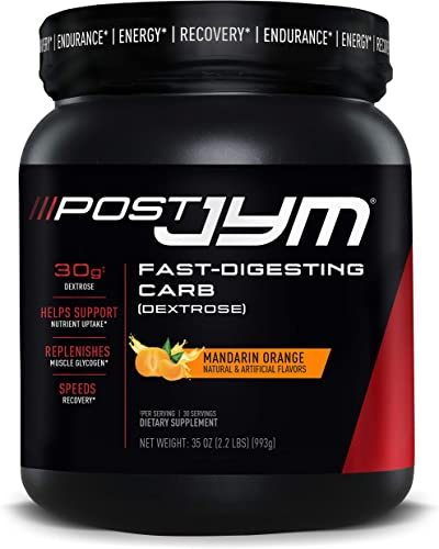 Post JYM Fast-Digesting Carb – Post-Workout Recovery Pure Dextrose JYM Supplement Science Mandarin Orange Flavor, 30 Servings