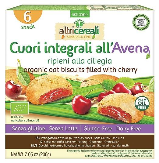 Probios AltriCereali Galleta de Avena Rellena con Cereza - Paquete de 10 x 200 gr -