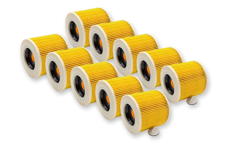 vhbw 2X Patronen Filter fü r Waschsauger Kä rcher WD 3.200, WD 3.300 M, WD 3.500 P wie 6.414-552.0. VHBW4251358544425