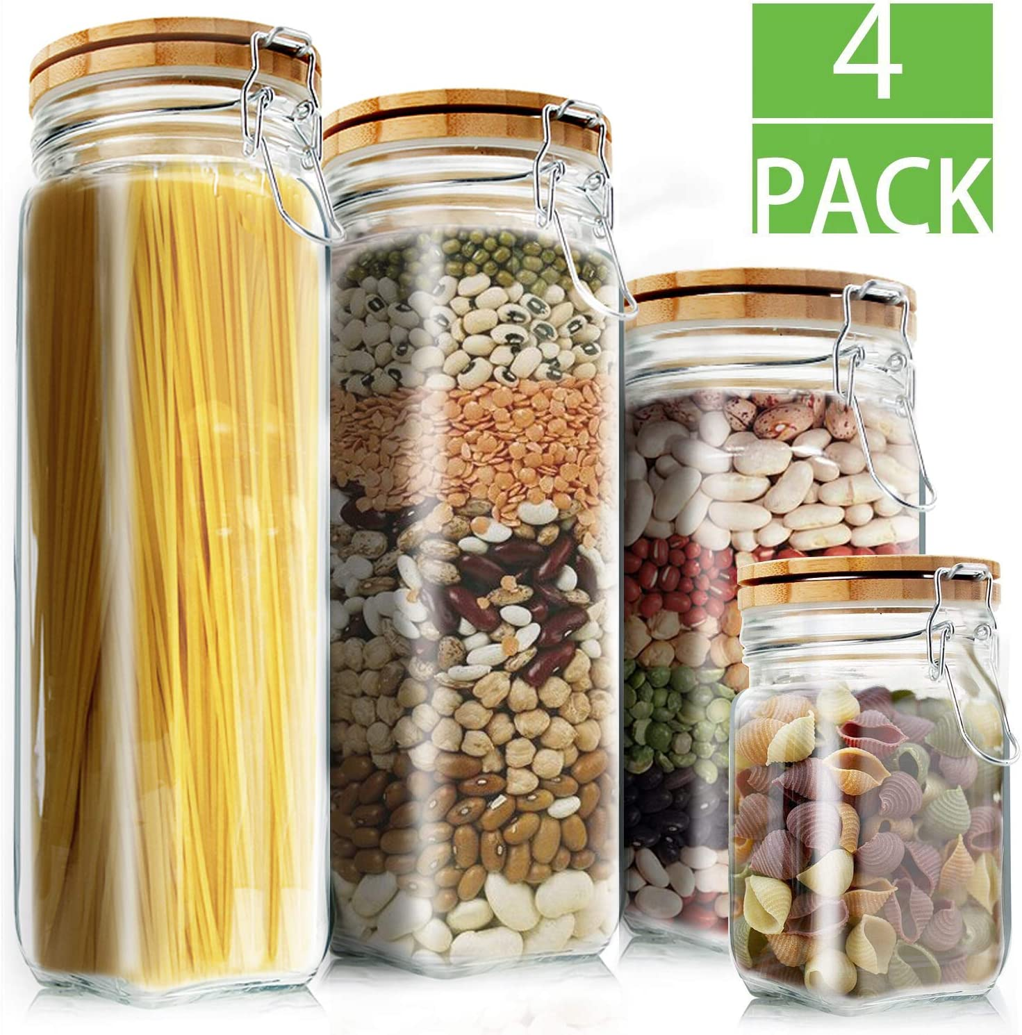 Eco friendly kitchen products: large glass containers