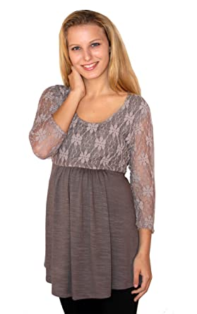 832a8ff34ee Trcclothing Women s Maternity Blouse Top Long Sleeve Tunic Lace at Amazon  Women s Clothing store