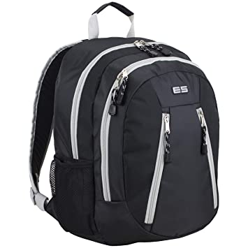 0adb14cf2005 Eastsport Sport Backpack for School, Hiking, Travel, Climbing, Camping,  Outdoors - Black/Soft Silver