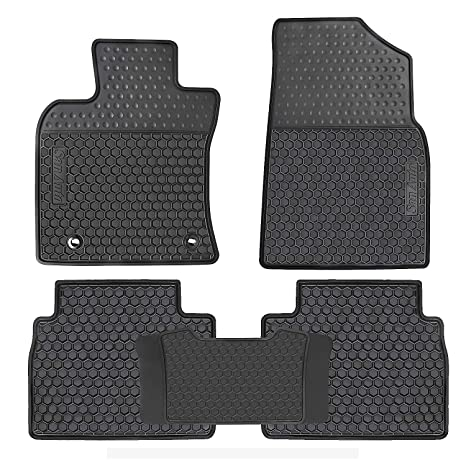 Black Genuine Toyota Accessories PT908-03120-20 Front and Rear All-Weather Floor Mat - Set of 4