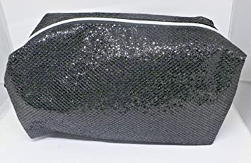Amazon.com   Ulta beauty sequin sparkle glitter black cosmetic bag makeup  pouch   Beauty d5b41d7170