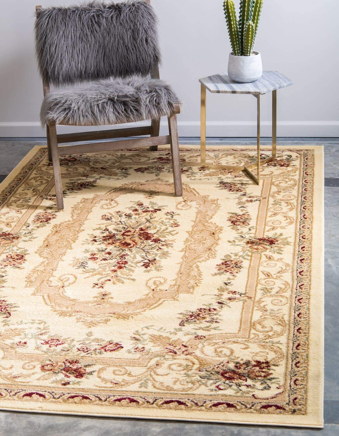 Unique Loom Versailles Collection Traditional Classic Cream Area Rug 2 2 x 3 0