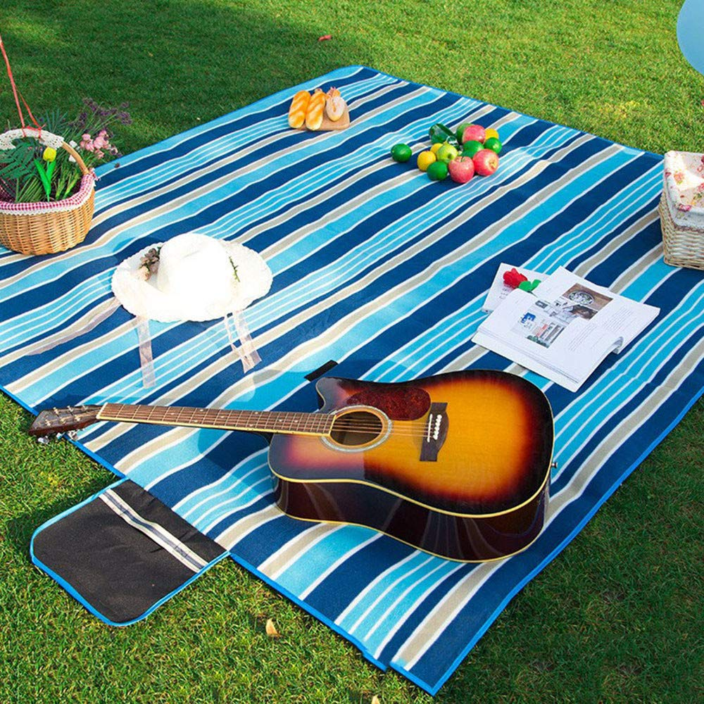 SYT Blankets Picknick-Matten     Camping Moistureproof Outdoor Strand Matte Baby Klettern Plaid Decke Strand Yoga Baby, 2x2m, Dunkelblau B07GCHKS8K | Lassen Sie unsere Produkte in die Welt gehen  6c3089