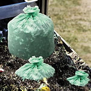 """STOUT by Envision STO-E4860E85 EcoSafe-6400 Compostable Bags, 48"""" x 60"""", 64 gal Capacity, 0.85 mil Thickness, Green (Pack of 30)"""