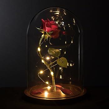 Amazon Com Life Sized 13 Quot Enchanted Rose That Lasts