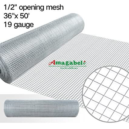 Amazon.com: 36inx50ft 1/2 in 19gauge Hardware Cloth Galvanized ...