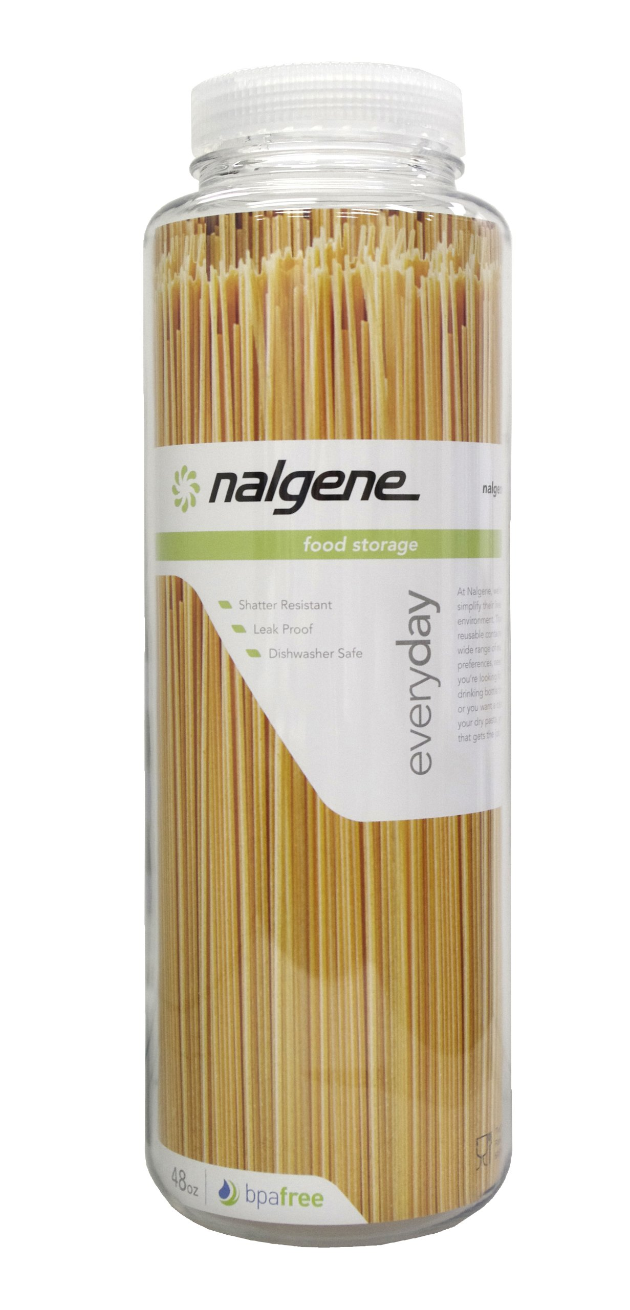 Nalgene Kitchen Storage Wide Mouth, 48-Ounce, Clear