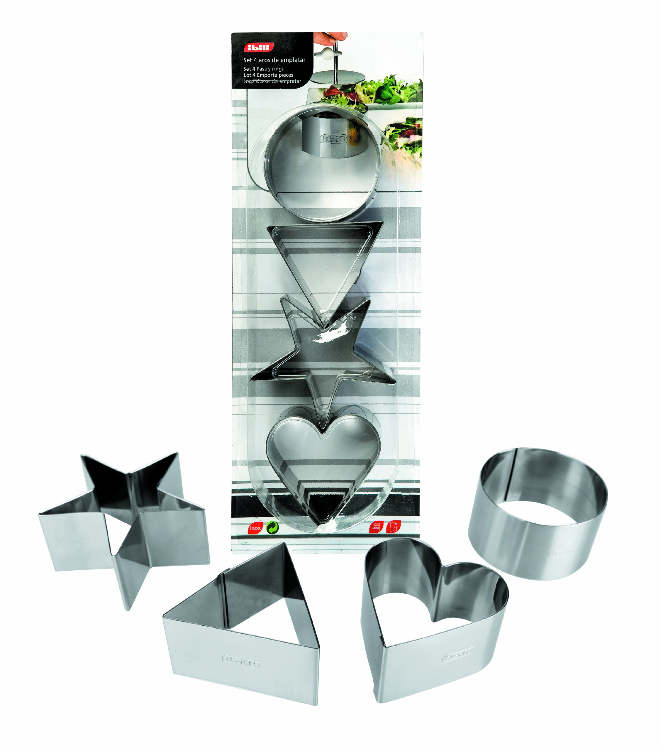 IBILI 716060 Set 4 pastry rings