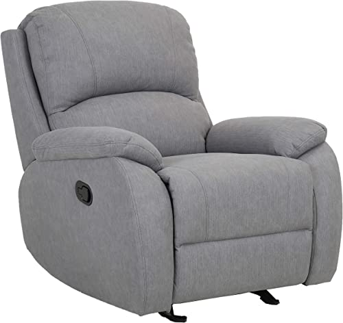 Amazon Brand Ravenna Home Oakesdale Contemporary Recliner, 35.4 W, Langley Grey