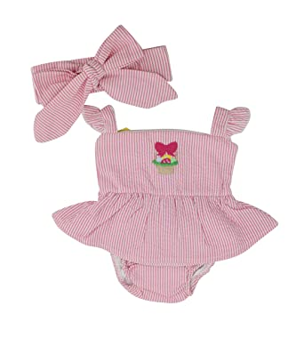 c859a1bb8 Amazon.com  Unique Baby Girls Searsucker Easter Basket Blouse ...
