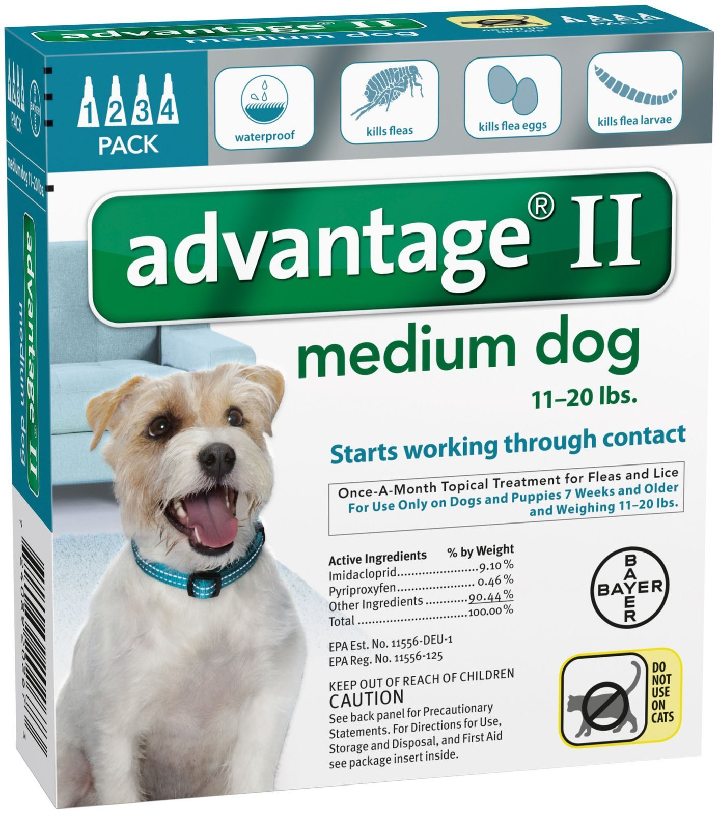 Bayer Animal Health Advantage II Medium Dog 4-Pack by Bayer Animal Health