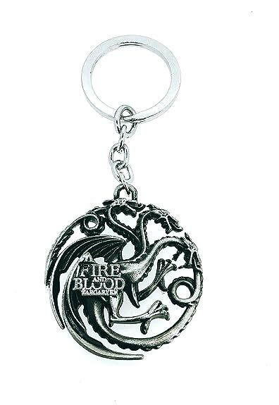 Gemelolandia Llavero Juego de Tronos Casa Targaryen Acero 3D ...
