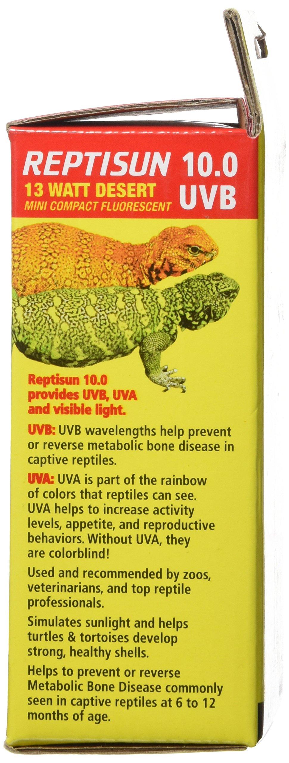Reptisun 10.0 Uvb Mini Compact Fluorescent 13 Watt by Zoo Med (Image #4)
