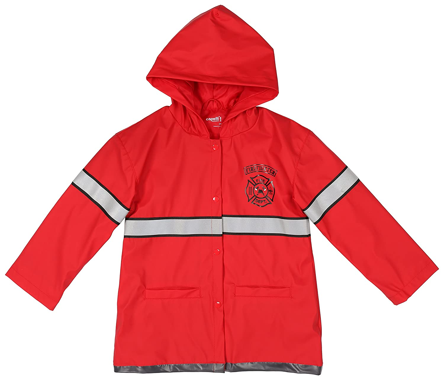 Capelli New York Toddler Boys Policeman Style Rain Slicker with Hood and Pockets RCTB-103