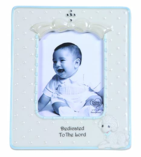 Precious Moments Dedicated to The Lord Boy Frame Figurine: Amazon.co ...