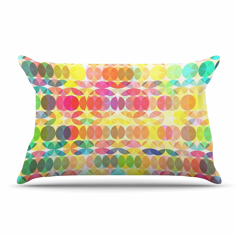 30 by 20-Inch Kess InHouse Fimbis Sercuelartoo Geometric Circles Standard Pillow Case 30 X 20