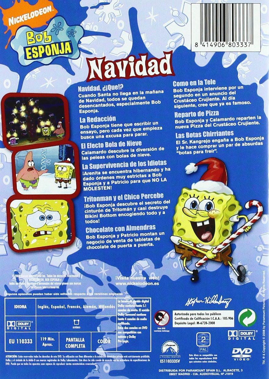 Bob Esponja : Navidad [DVD]: Amazon.es: Dibujos animados, Stephen Hillenburg: Cine y Series TV