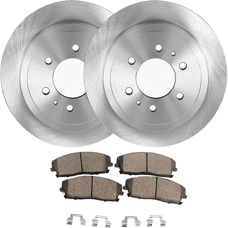 OE Series Rotors + Ceramic Pads Max Brakes Front /& Rear Supreme Brake Kit KM152543 Fits: 2011 11 2012 12 2013 13 Ram 3500