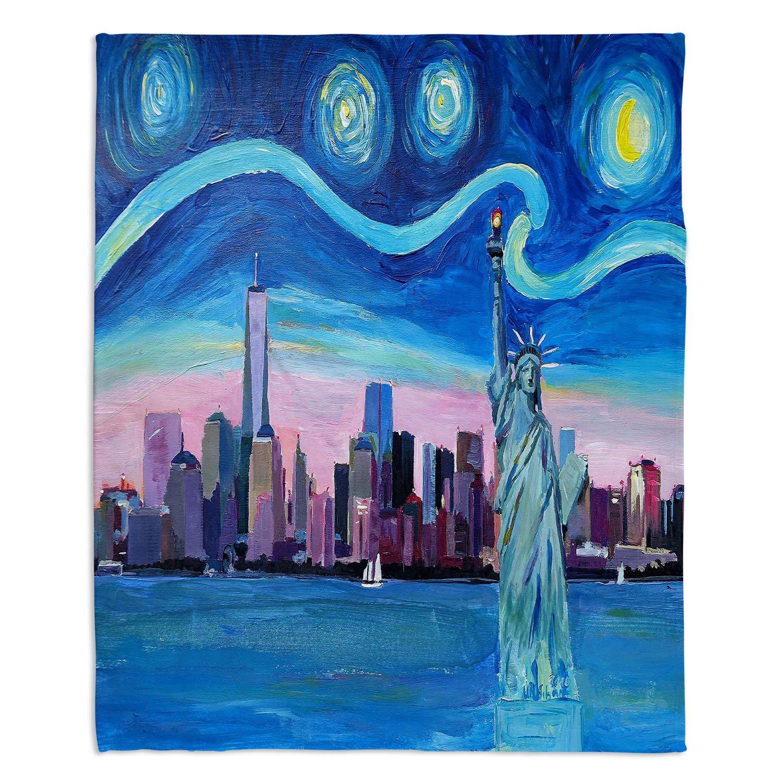 ブランケットウルトラソフトFuzzy 4サイズホーム装飾寝室ソファスローブランケットダイアノウチェデザインズby Markus Bleichner Starry Night in New York City Medium 60