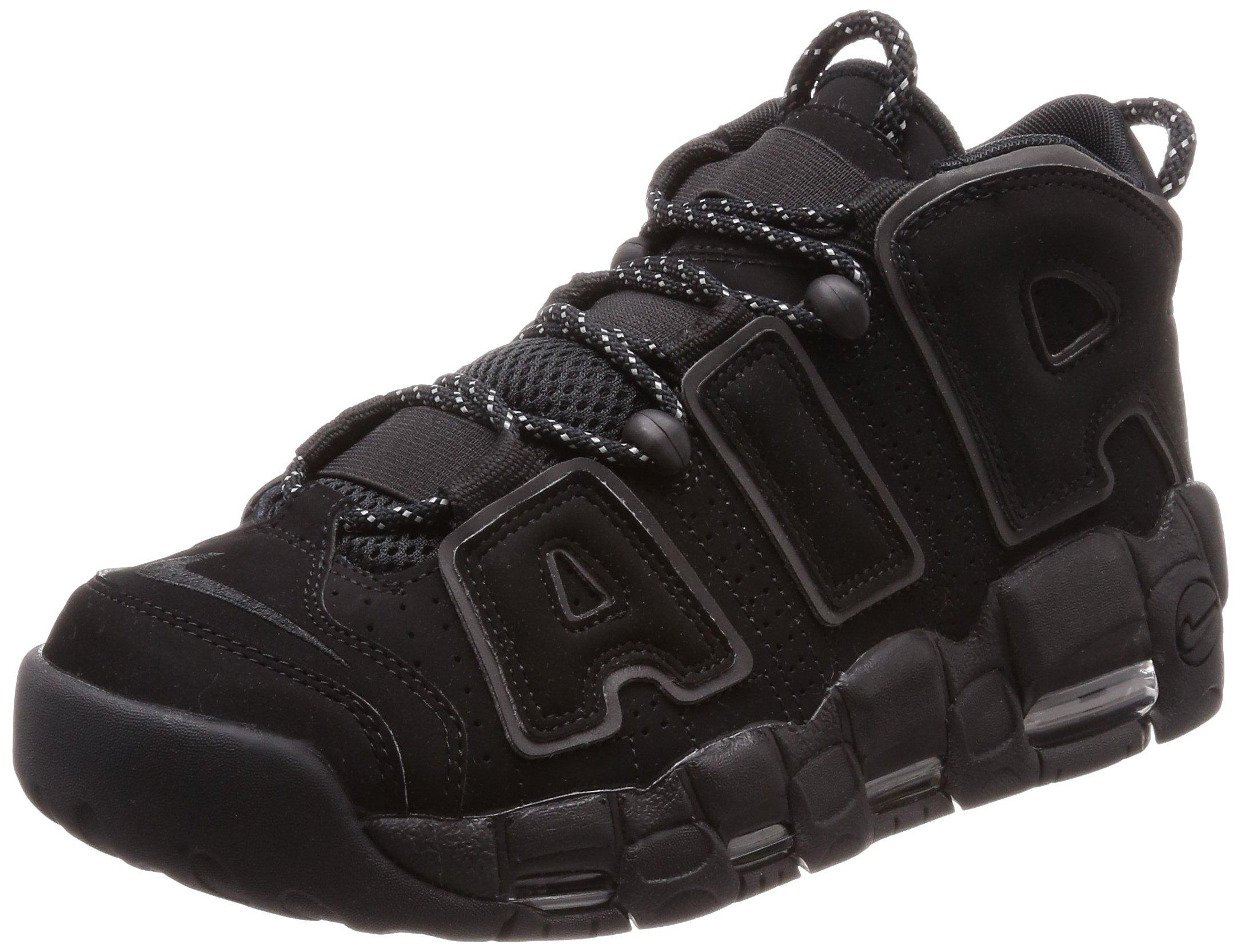 8f6557f163a4 Galleon - Nike Air More Uptempo Mens 414962-004 Size 9 Black Black-Black