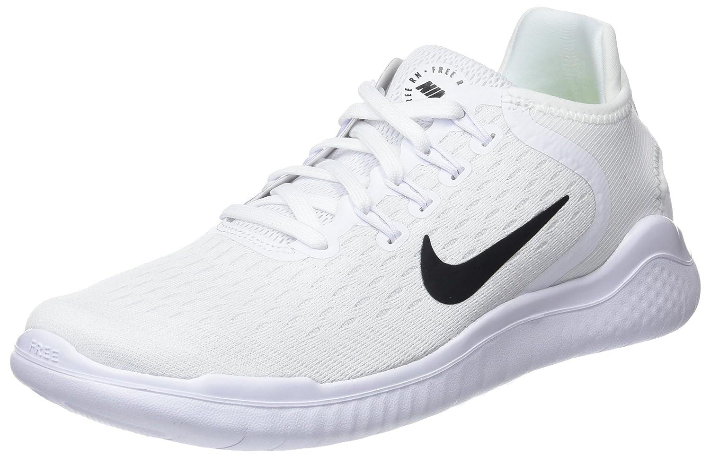 Nike Free RN 2018, Zapatillas de Running para Mujer 38.5 EU|Blanco (White/Black 100)