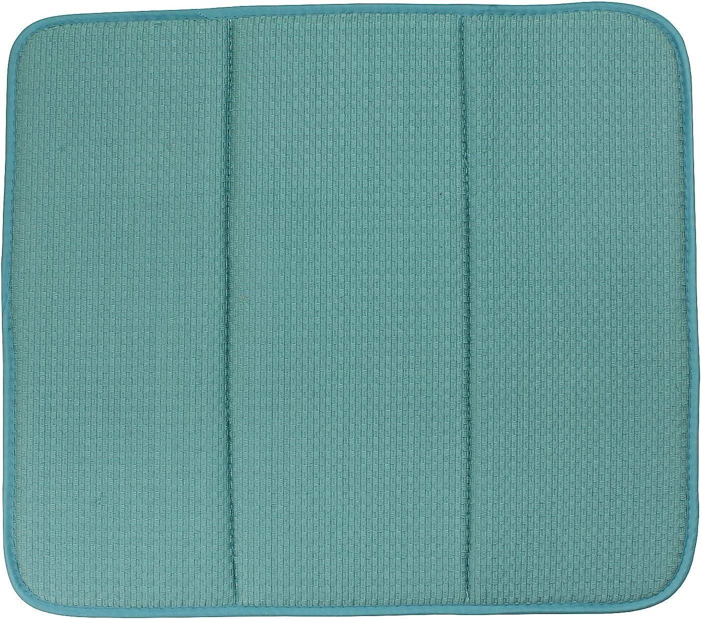 macosa SP1161/Moderna Escurreplatos Microfibra selbsttrocknend| para Vasos y vajilla 41 x 46 x 0,5 cm Gris Microfibra Vajilla de alfombras Estante Fregadero escurridor