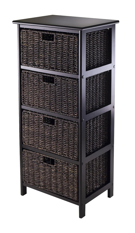 Amazon.com - Winsome Omaha Storage Rack with 4-Foldable Basket ...