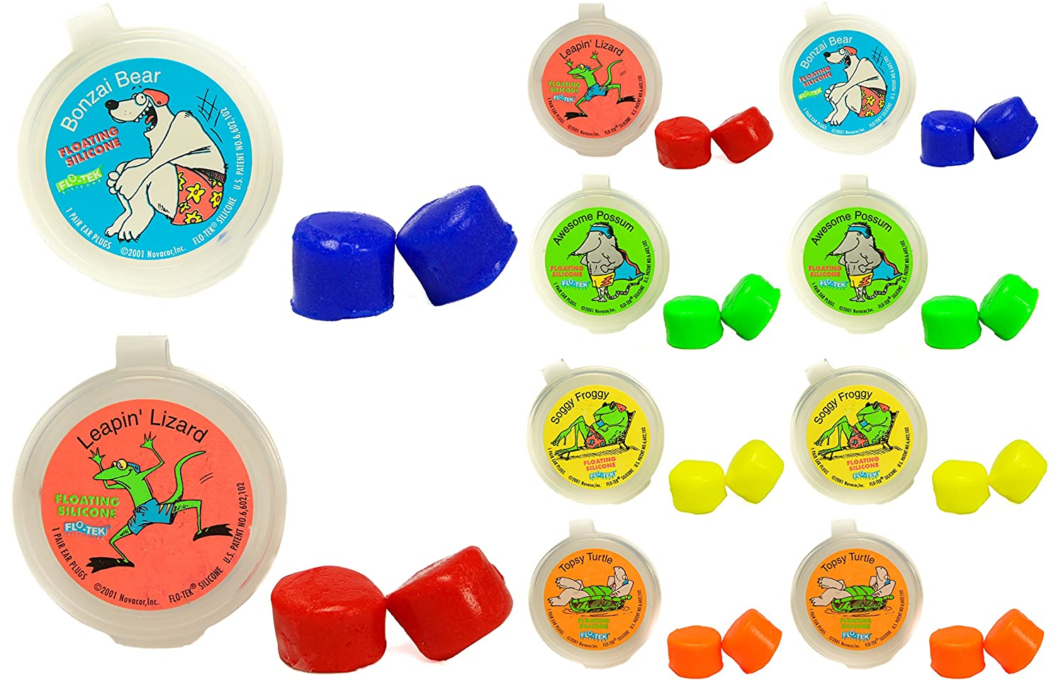Putty Buddies Floating Earplugs 10 Pair Pack   Soft Silicone Ear Plugs For Swimming & Bathing   Invented By Physician   Keep Water Out   Premium Swimming Earplugs   Doctor Recommended by Putty Buddies