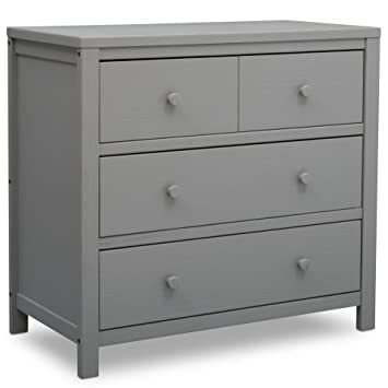 Amazon Com Delta Children Farmhouse 3 Drawer Dresser Rustic Haze Grey Baby