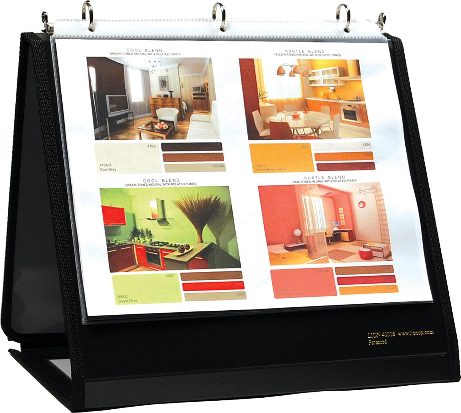 Lion Insta-Cover Ring Binder Easel, 3/4 Inches Ring, 1 Binder Easel (40008)