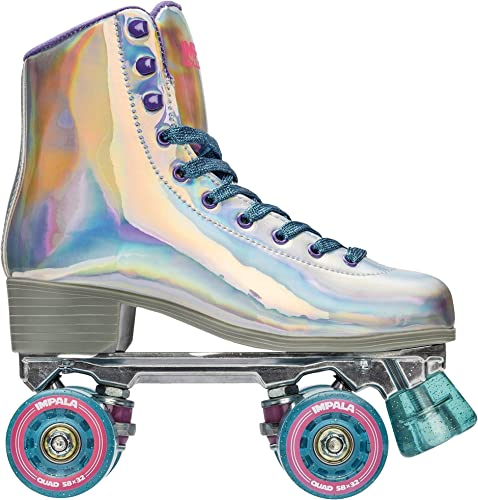 Impala Rollerskates Girl s Impala Quad Skate Big Kid Adult Holographic 7 US Men s 5, Women s 7