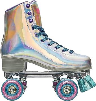 White 4 M Impala Rollerskates Girls Impala Quad Skate Big Kid//Adult